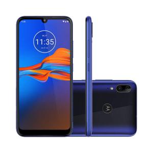 "Smartphone Motorola Moto E6 Plus 32GB Azul 4G Tela 6.1"" Câmera Dupla 13MP Selfie 8MP Android 9.0 Pie"