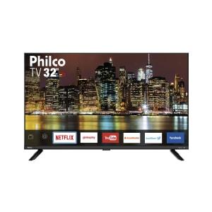 """Smart TV LED 32"""" Philco PTV32G60SNBL HD com Conversor Digital 2 HDMI 1 USB Wi-Fi Função Time Machine 60Hz"""