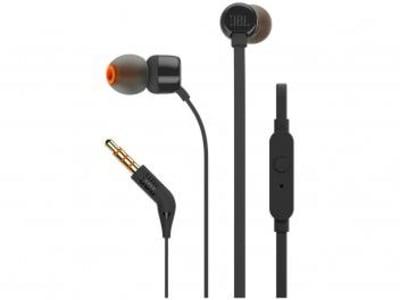 Fone de Ouvido JBL Intra-Auricular - com Microfone Preto T110 - Magazine Ofertaesperta