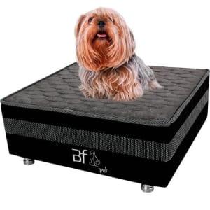 Caminha Box Pet com Lençol Impermeável Branco para Gatos e Cachorros 60x60x24cm