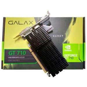 Placa de Vídeo Galax Geforce Gt 710 Passive 1GB Ddr3 64 Bits Esp - 71ggf4dc00wg
