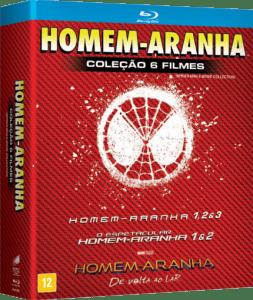Blu-Ray Homem Aranha - Coleção 6 Filmes - 6 Discos