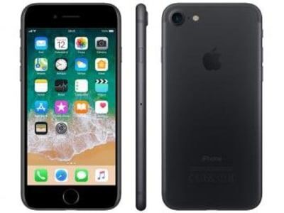 "iPhone 7 Apple 32GB Preto Matte 4G Tela 4.7""Retina - Câm. 12MP + Selfie 7MP iOS 11 Proc. Chip A10"