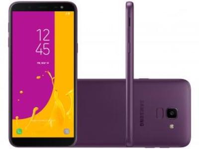 Smartphone Samsung Galaxy J6 32GB Violeta - Dual Chip 4G Câm. 13MP + Selfie 8MP Flash - Magazine Ofertaesperta
