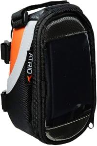 Bolsa com Porta Celular para Bicicleta de 0,6L Impermeável com Touch em Poliéster e PVC