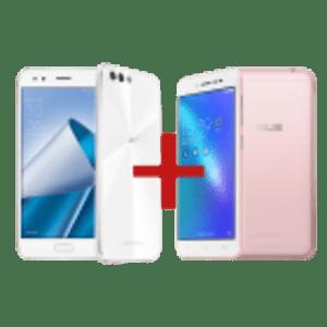 ZenFone 4 4GB/64GB Branco + Zenfone Live Rosa