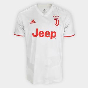 Camisa Juventus Away 19/20 s/nº Torcedor Adidas Masculina - Branco e Bege