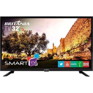 "Smart TV LED 32"" Britânia BTV32G51SN HD com Conversor Digital 2 HDMI 1 USB Wi-Fi Áudio Dolby - Preta"