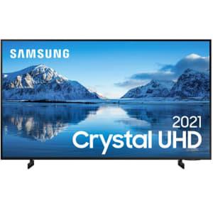 "Smart TV Samsung 75"" Crystal UHD 4K UN75AU8000GXZD Painel Dynamic Crystal Color Design Slim Alexa"