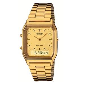 Relógio Feminino Anadigi Casio Vintage AQ-230GA-9DMQ - Dourado