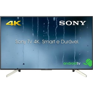 "Smart TV Android LED 55"" Sony KD-55X755F Ultra HD 4k com Conversor Digital 4 HDMI 3 USB 60Hz - Preta"