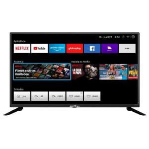 Smart TV Britânia 39´ LED HD, 2x HDMI, com WiFi, Netflix e Loja de Aplicativos, Preto - BTV39G60N5CH (99393044)