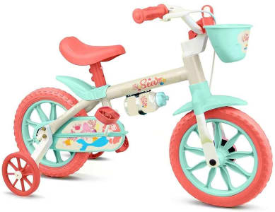 Bicicleta Sea Feminina Aro 12 Nathor Multicor