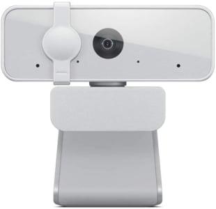 Webcam Lenovo 300 Full HD Com 2 Microfones Integrados 1080p 30fps USB Cinza Claro