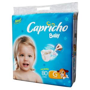 Fralda Capricho Baby Super Jumbo G - 80 Unidades