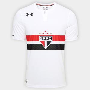 Oferta ➤ Camisa São Paulo I 17/18 s/nº Torcedor Under Armour Masculina – Branco   . Veja essa promoção