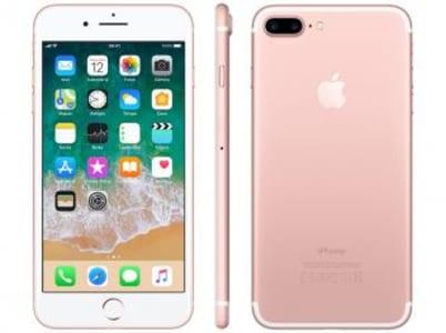 "iPhone 7 Plus Apple 128GB Ouro Rosa 4G Tela 5.5"" - Retina Câm. 12MP + Selfie 7MP iOS 11 - Magazine Ofertaesperta"
