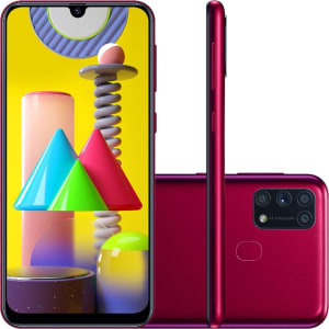 "Smartphone Samsung Galaxy M31 Dual Chip Android 10.0 Tela 6.4"" Octa-Core 128GB 4G Câmera Quádrupla 64MP+8MP+5MP+5MP - Rosa"