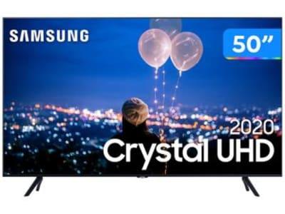 "Smart TV Crystal UHD 4K LED 50"" Samsung - 50TU8000 Wi-Fi Bluetooth HDR 3 HDMI 2 USB - Magazine Ofertaesperta"