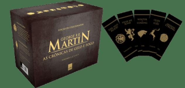 Box – As Crônicas De Gelo e Fogo – Pocket – 5 Volumes - Com Marcador De Página