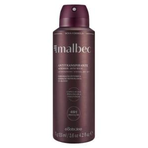 Malbec Desodorante Antitranspirante Aerosol, 75g/125ml