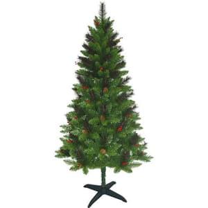 Árvore de Natal Decorada Verde 2,1m - 646 Galhos e Enfeitada com Pinhas e Frutinhas - Orb Christmas