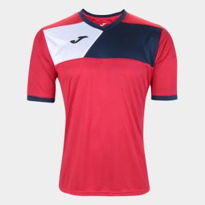 Camisa Joma Crew II Masculina - Vermelho+Preto