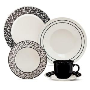 Aparelho de Jantar e Chá Arabescos Cerâmica 20 peças - Biona