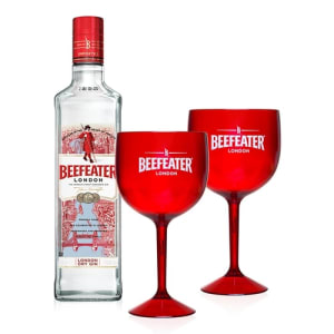 Kit Gin Beefeater London Dry 750ml + 2 Taças
