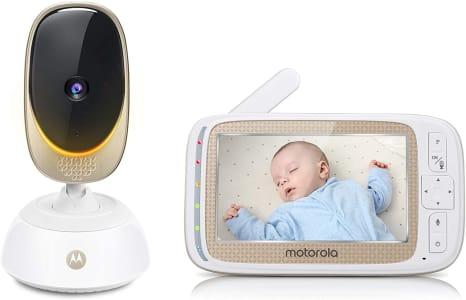 "Babá Eletrônica Motorola Comfort85 Connect com Tela de 5"" HD e Visor Colorido - Branco"