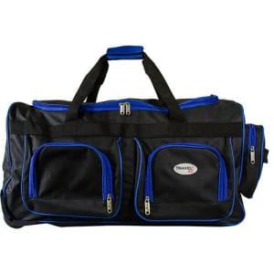 Bolsa Maleta Média Azul em Poliéster com Compartimentos Externos - Travel Max