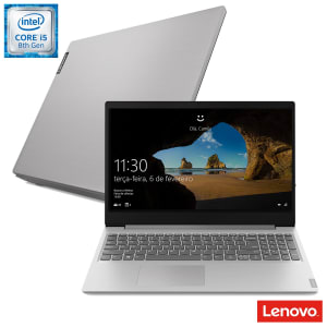 "Notebook Lenovo, Intel Core i5-8265U, 8GB, 2TB, 15,6"", Placa NVIDIA GeForce MX110 com 2GB, IdeaPad S145 - 81S9000DBR"
