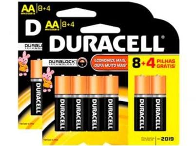 Kit Pilha Duracell Alcalina Tipo AA - 24 unidades