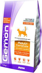 Ração Gemon para Gatos Adultos Sabor Frango e Peru 1,5kg