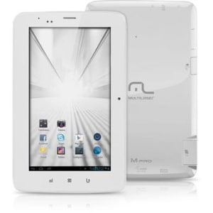"""Tablet Multilaser M-PRO Tela 7"""" Android 4.1 4GB 3G Wi-Fi Branco Dual Core"""