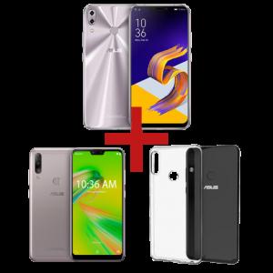 ZenFone 5Z 4GB/64GB Prata + ZenFone Max Shot 4GB/64GB Prata + Bumper para ZenFone Max Shot
