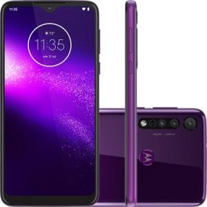 "Motorola One Macro 64GB Dual Chip Android Tela 6.2"" 4G 13MP + 2MP + 2MP - Ultra Violet"