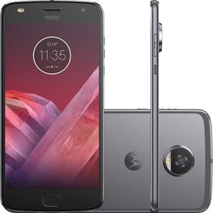 "Smartphone Motorola Moto Z2 Play Game Edition Dual Chip Android 7.0 Tela 5.5"" Octa-Core 64GB Wi-Fi 4G Câmera 12MP - Platinum"