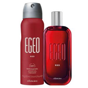 Combo Egeo Red: Des. Colônia + Antitranspirante Aerosol