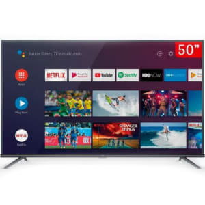"""Smart TV LED 50"""" Android TV TCL 50P8M 4K UHD HDR"""