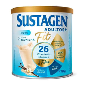 Complemento Alimentar Sustagen Adultos+ Fit Sabor Baunilha Lata 370g - Magazine Ofertaesperta