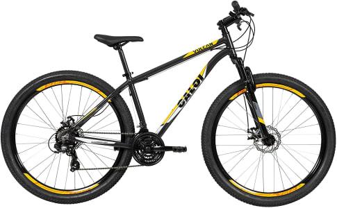 Bicicleta Caloi Vulcan Aro 29 com 21 Velocidades, Cinza