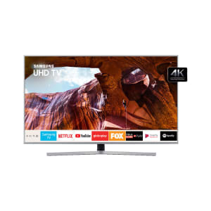 "Smart TV LED 55"" Samsung UN55RU7450GXZD Ultra HD/4k HDMI, USB e Wi-fi Prata com Conversor Digital Integrado"