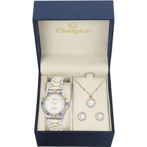 Relógio Feminino Champion Analógico Fashion  CH30064W + Colar e Brinco