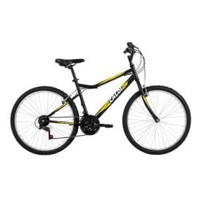Bicicleta Aro 26 Caloi Aspen com 21 Marchas – Preto/Amarelo