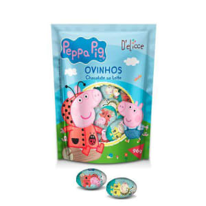 Mini Ovos Peppa Pig 96g Delicce