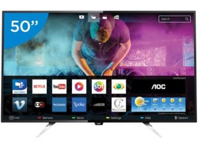 Oferta ➤ Smart TV LED 50 AOC 4K/Ultra HD LE50U7970 – Conversor Digital Wi-Fi 4 HDMI 3 USB – Magazine   . Veja essa promoção