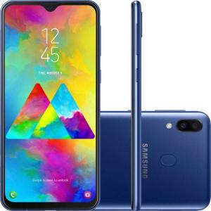 Oferta ➤ Smartphone Samsung Galaxy M20 64GB Dual Chip Android 8.1 Tela 6.3 Octa-Core 4G Câmera 13MP + 5MP – Azul   . Veja essa promoção
