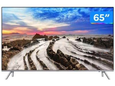 """Smart TV LED 65"""" Ultra HD 4K Samsung 65MU7000 4 HDMI 3 USB Wi-Fi 240Hz"""