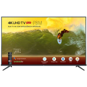 "Smart TV LED 65"" 4K TCL 65P8M com Android TV, Controle Remoto Comando de Voz, HDR, Micro Dimming, Google Assistant, Bluetooth, HDMI e USB"